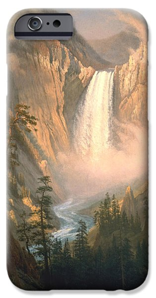 Yellowstone National Park iPhone Cases - Yellowstone iPhone Case by Albert Bierstadt