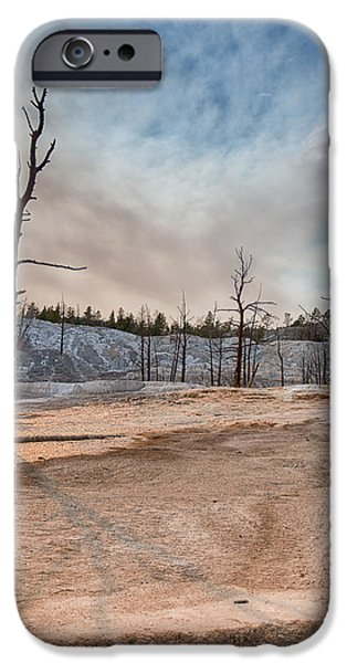 Moonscape iPhone Cases - Yellowstone Desolation iPhone Case by Andres Leon