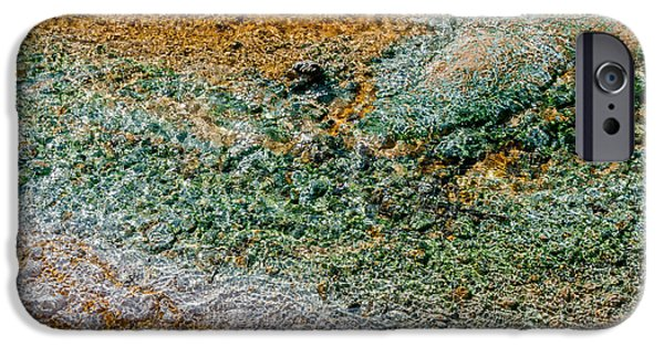 Alga iPhone Cases - Yellowstone Living Thermometer Abstract iPhone Case by Debra Martz
