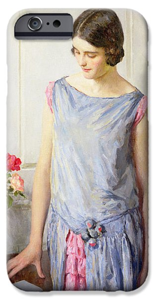 Thinking Paintings iPhone Cases - Yes or No iPhone Case by William Henry Margetson
