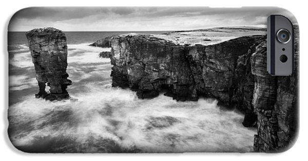 Dave iPhone Cases - Yesnaby Castle iPhone Case by Dave Bowman