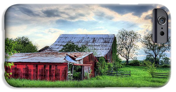 Maryland Barn Photographs iPhone Cases - Yesterday 2 iPhone Case by JC Findley