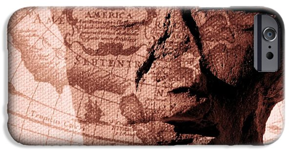 Macro Mixed Media iPhone Cases - Yesterday America iPhone Case by Kae Cheatham