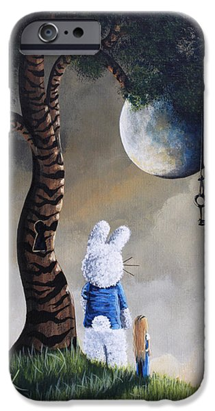 Alice In Wonderland iPhone Cases - Alice In Wonderland Artwork - Fairytale Paintings iPhone Case by Shawna Erback