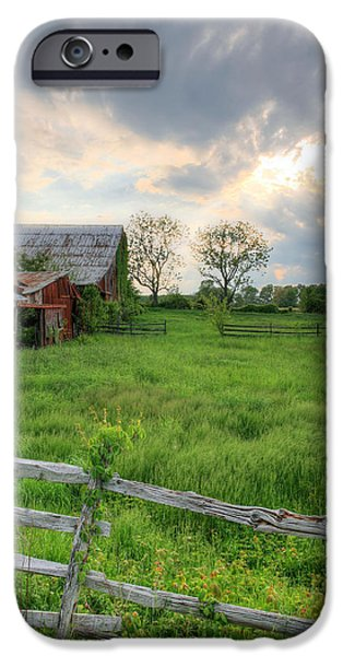 Maryland Barn Photographs iPhone Cases - Yesterday iPhone Case by JC Findley