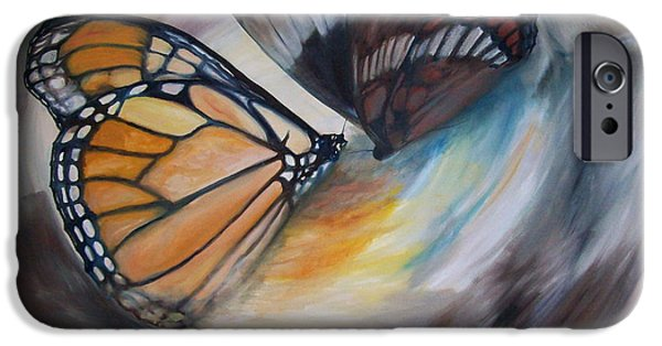 Maine iPhone Cases - Yesterdays Butterflies iPhone Case by Chris Wing