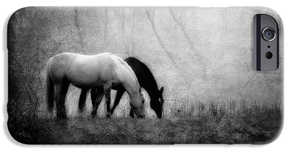 American Quarter Horse iPhone Cases - Yin and Yang iPhone Case by Leslie Heemsbergen