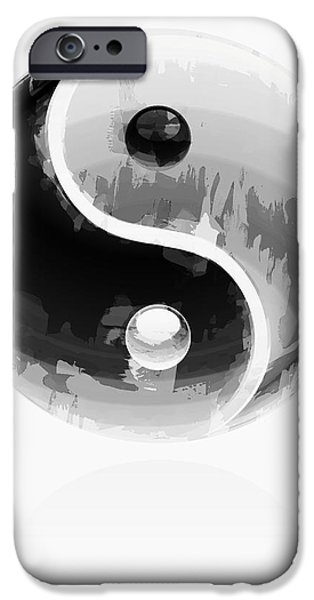 Opposing Forces iPhone Cases - Yin Yang 2 iPhone Case by Daniel Hagerman