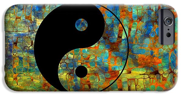 Metaphysics iPhone Cases - Yin Yang Abstract iPhone Case by Dan Sproul