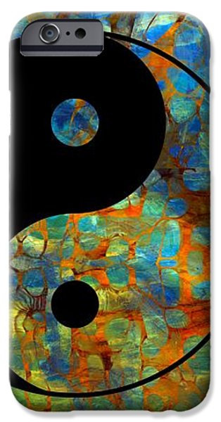 Yin Yang Abstract iPhone Case by Dan Sproul