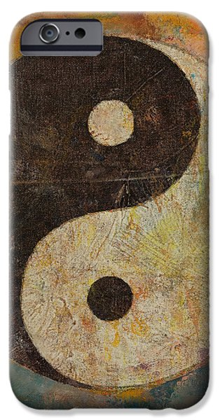Yin iPhone Cases - Yin Yang iPhone Case by Michael Creese
