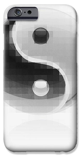 Opposing Forces iPhone Cases - Yin Yang Mosaic iPhone Case by Daniel Hagerman