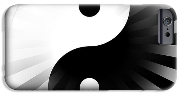 Opposing Forces iPhone Cases - Yin Yang Power iPhone Case by Daniel Hagerman