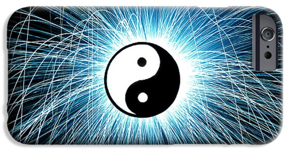 Fireworks Photographs iPhone Cases - Yin Yang iPhone Case by Tim Gainey