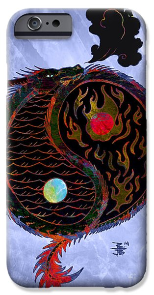 Recently Sold -  - Serpent iPhone Cases - Ying Yang Dragon iPhone Case by Robert Ball