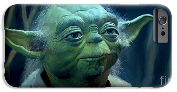 Fight Digital iPhone Cases - Yoda iPhone Case by Paul Tagliamonte