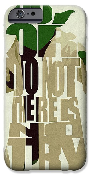 Stars iPhone Cases - Yoda - Star Wars iPhone Case by Ayse Deniz