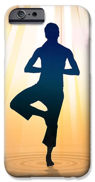 Yoga Balance iPhone Case by Bedros Awak