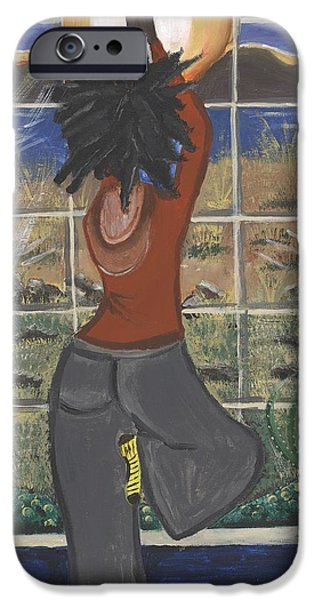 Mental Paintings iPhone Cases - Yoga iPhone Case by Reba Baptist