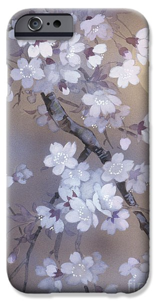 Lilac iPhone Cases - Yoi Crop iPhone Case by Haruyo Morita