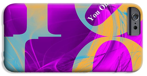 Young Digital Art iPhone Cases - YOLO - You Only Live Once 20140125 Fractal Heart v1 iPhone Case by Wingsdomain Art and Photography