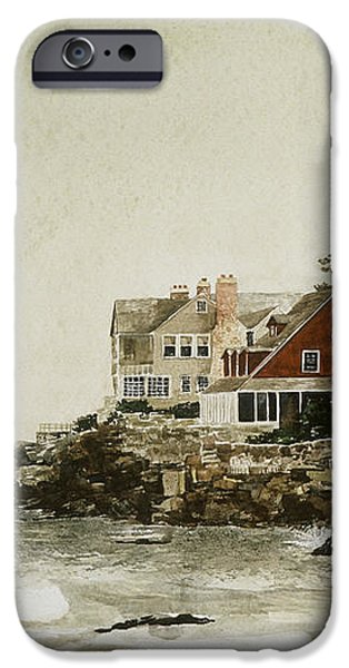 YORK BEACH iPhone Case by Monte Toon