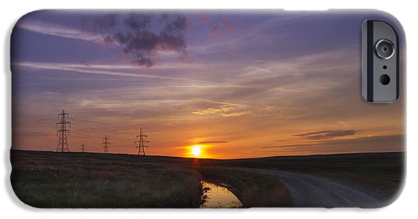 Electrical Equipment iPhone Cases - Yorkshire Sunset  iPhone Case by Chris Smith