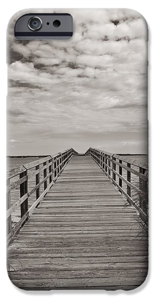 Yorktown iPhone Cases - Yorktown Beach Pier iPhone Case by Steve Stephenson