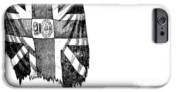 Yorktown iPhone Cases - Yorktown: British Flag iPhone Case by Granger