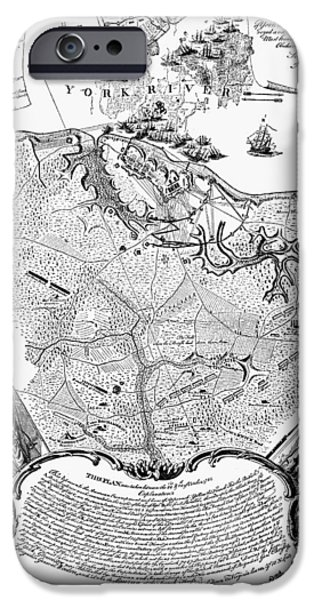 Yorktown iPhone Cases - Yorktown: Map, 1781 iPhone Case by Granger