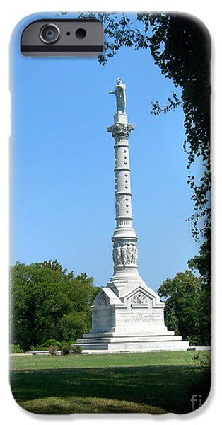 Yorktown iPhone Cases - Yorktown Monument iPhone Case by Skip Willits