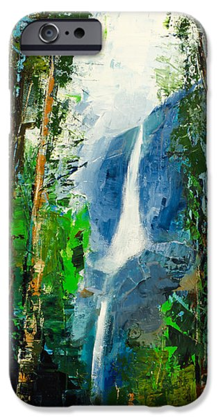 Affordable iPhone Cases - Yosemite Falls iPhone Case by Elise Palmigiani