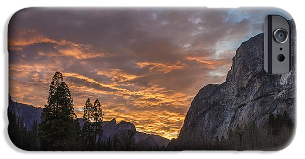Yosemite National Park iPhone Cases - Yosemite Fire iPhone Case by Jeremy Jensen