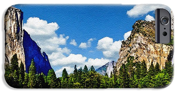 Cathedral Rock iPhone Cases - Yosemite Gods Country iPhone Case by  Bob and Nadine Johnston