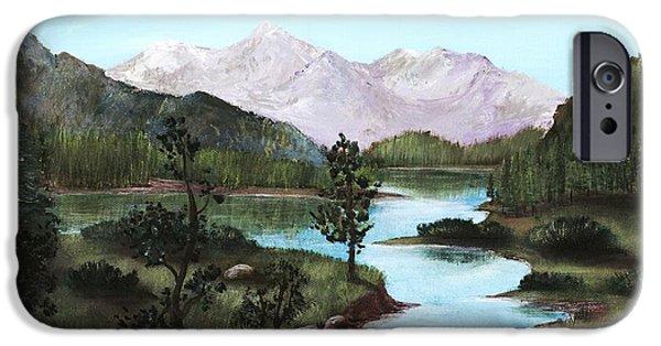 Park Scene Drawings iPhone Cases - Yosemite Meadow iPhone Case by Anastasiya Malakhova