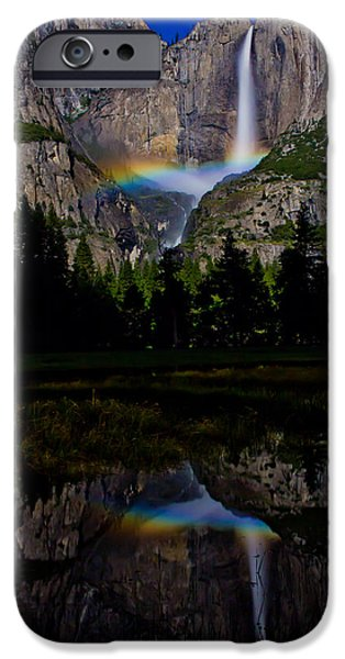 Yosemite National Park iPhone Cases - Yosemite Moonbow iPhone Case by John McGraw