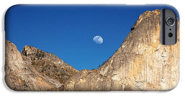 Cathedral Rock iPhone Cases - Yosemite moonrise iPhone Case by Jane Rix