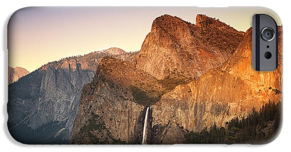 Cathedral Rock iPhone Cases - Yosemite Sunset iPhone Case by Jane Rix