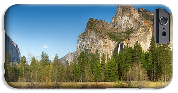 River View iPhone Cases - Yosemite valley and merced river iPhone Case by Jane Rix