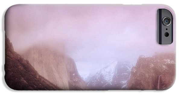 Mist iPhone Cases - Yosemite Valley Ca Usa iPhone Case by Panoramic Images