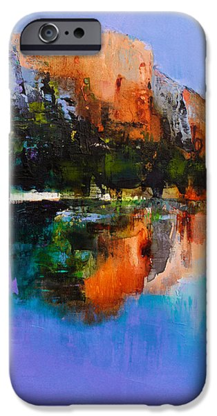 Field. Cloud iPhone Cases - Yosemite Valley iPhone Case by Elise Palmigiani