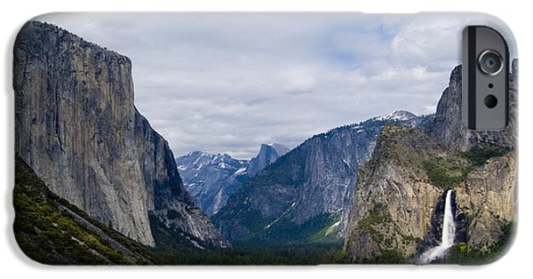 Bill Gallagher Photographs iPhone Cases - Yosemite Valley Panoramic iPhone Case by Bill Gallagher