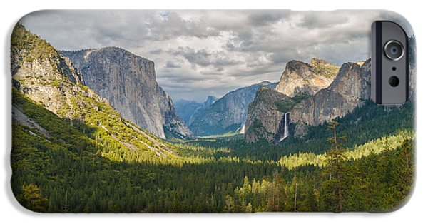 Adam iPhone Cases - Yosemite Valley iPhone Case by Sarit Sotangkur