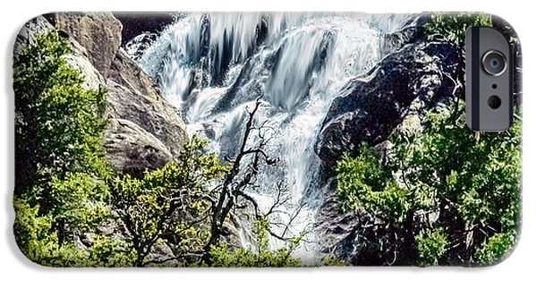 Cathedral Rock iPhone Cases - Yosemite Waterfall iPhone Case by  Bob and Nadine Johnston