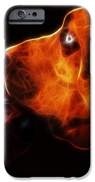 You Ain't Nothing But A Hound Dog - Dark - Electric iPhone Case by Wingsdomain Art and Photography