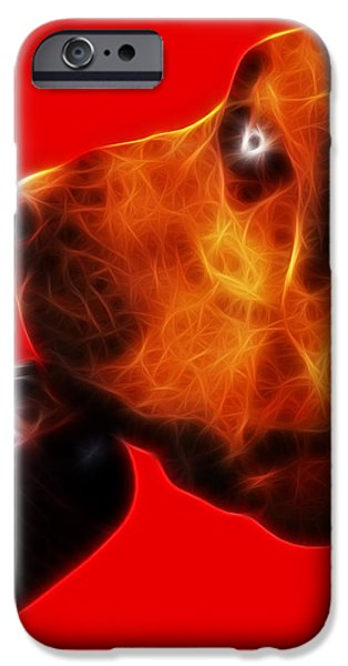 You Ain't Nothing But A Hound Dog - Red - Electric iPhone Case by Wingsdomain Art and Photography