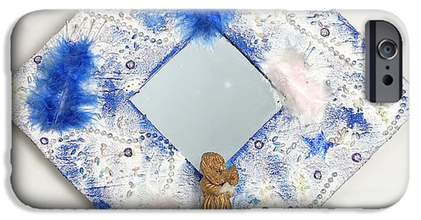 Angel Reliefs iPhone Cases - You are a shining STAR  iPhone Case by Heidi Sieber