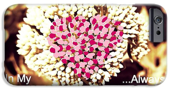 Chromatic Contrasts iPhone Cases - You Are In My Heart... Always iPhone Case by Kimberlee  Baxter