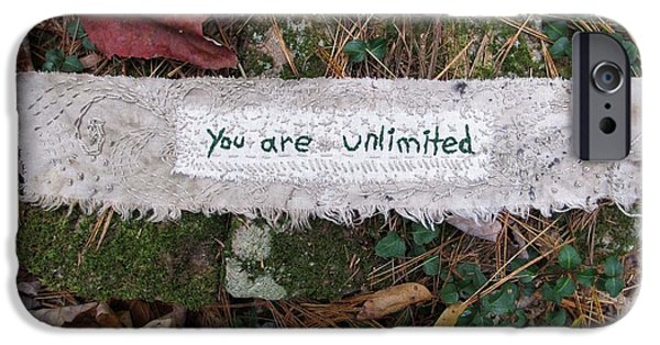 Fall Tapestries - Textiles iPhone Cases - You Are Unlimited iPhone Case by Linda Marcille