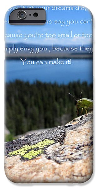 You Can Make It. Inspiration point iPhone Case by Ausra Paulauskaite